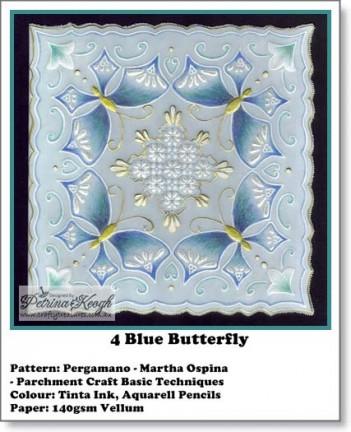 4 Blue Butterfly