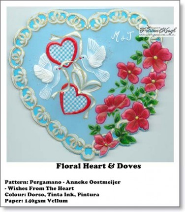 Floral heart & Doves