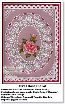Oval Rose Floral