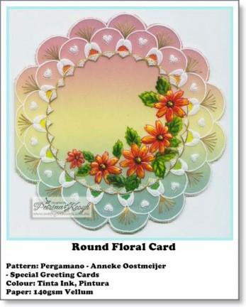 Round Floral Card