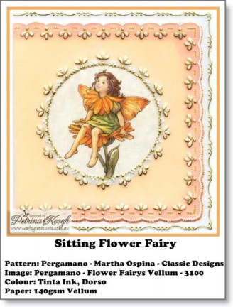 Sitting Flower Fairy