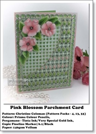 Pink Bloss Parchment Card