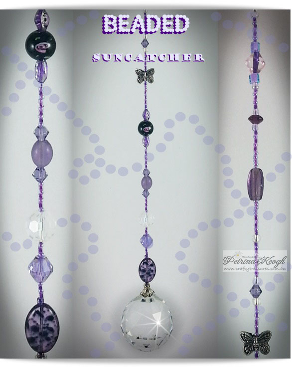 Purple Beaded Suncatcher